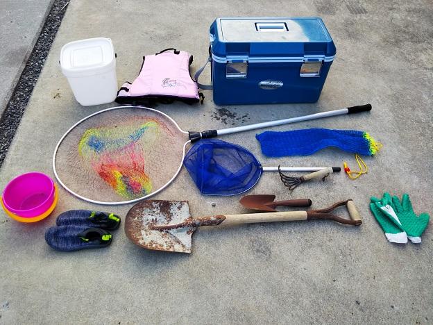 潮干狩りに必要な道具と持ち物
