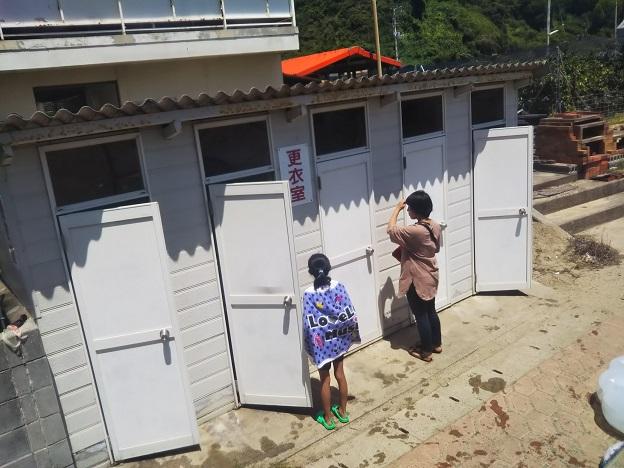 姫ヶ浜海水浴場 更衣室