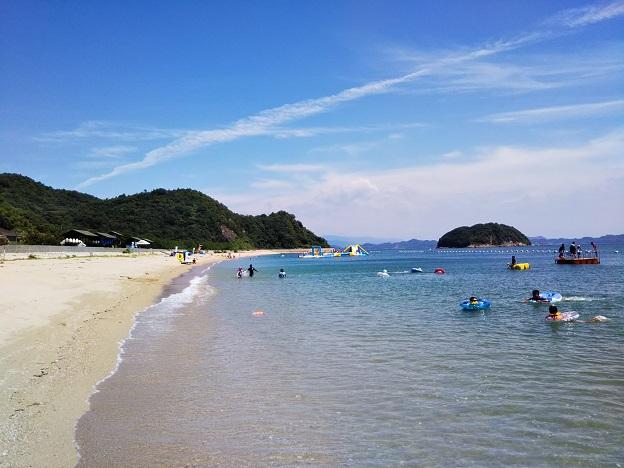 姫ヶ浜海水浴場のビーチ