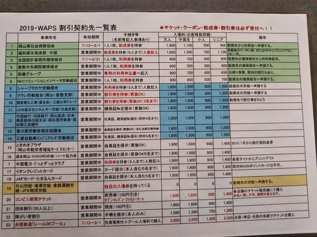 ワップス 割引一覧表