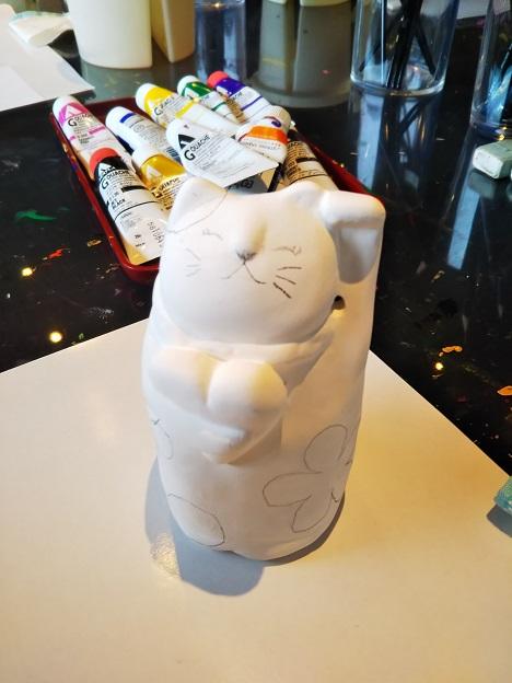 招き猫美術館 絵付け体験1
