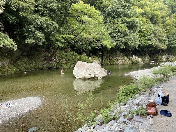鞍瀬川川遊び愛媛県