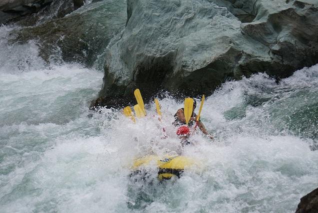 吉野川の小歩危最大の激流