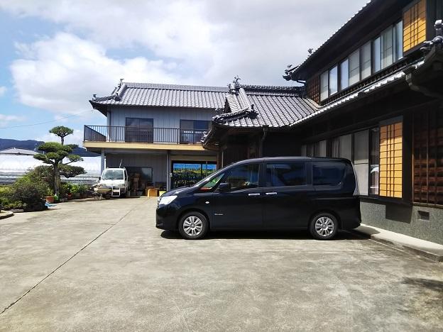 山川観光ぶどう園の駐車場