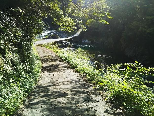 貞光川へ降りる道