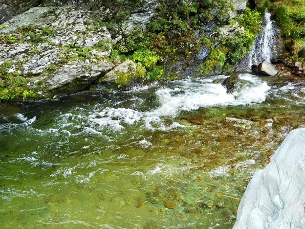 鞍瀬川流れが速い場所