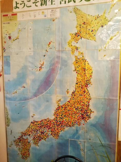 宮武うどん 日本地図