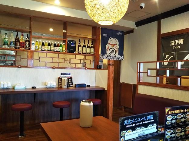 台湾料理豊源丸亀店テーブル席とカウンター席