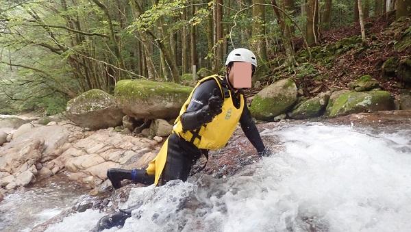 河鹿(かじか)の滝をクリアー