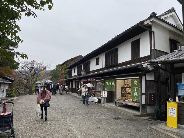 倉敷美観地区の風流のある街並み
