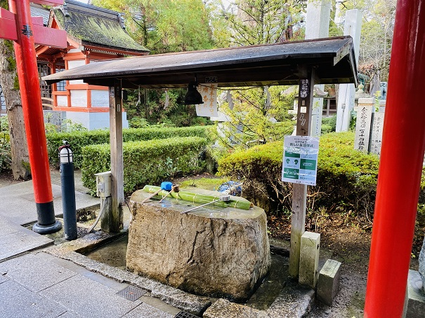 手水舎北参道田村神社