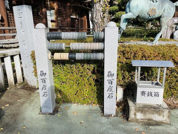 お百度石で参り田村神社