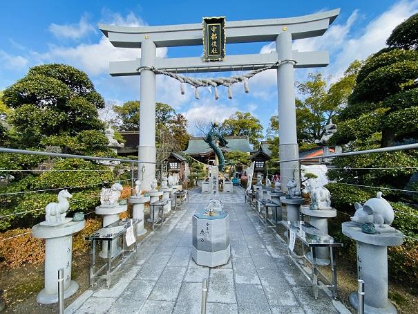 宇都伎社鳥居田村神社