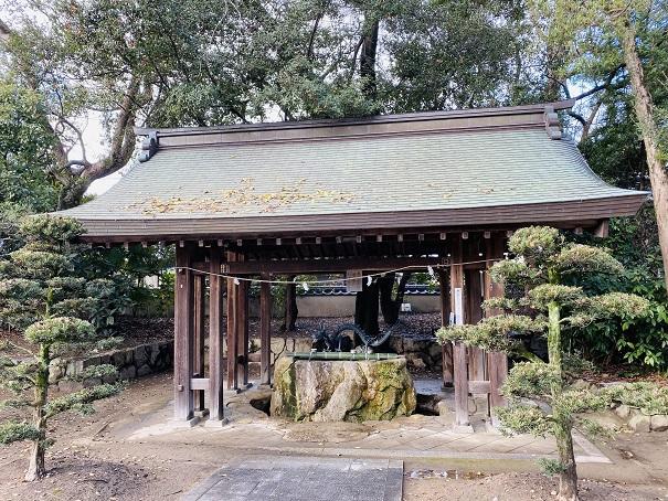 手水舎表参道田村神社