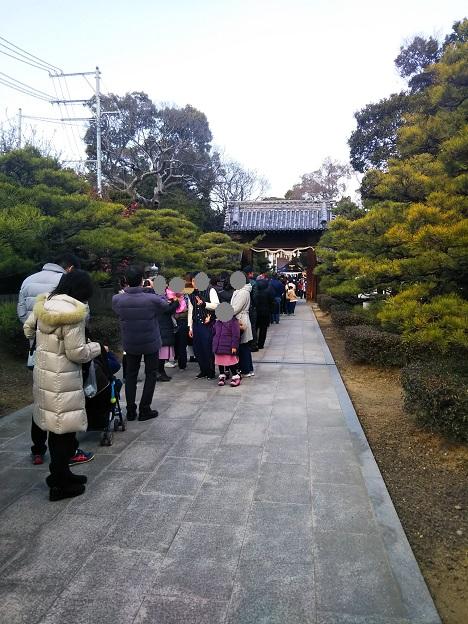 田村神社 本殿参拝列