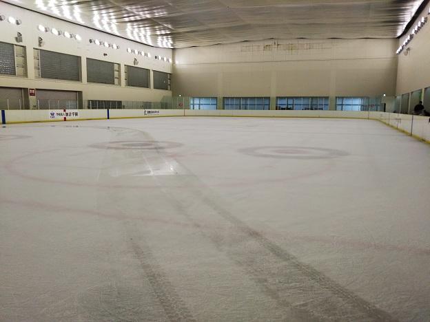 ヘルスピア倉敷 アイススケートリンク整備