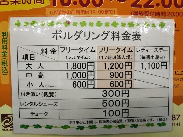 ボルタリング料金表