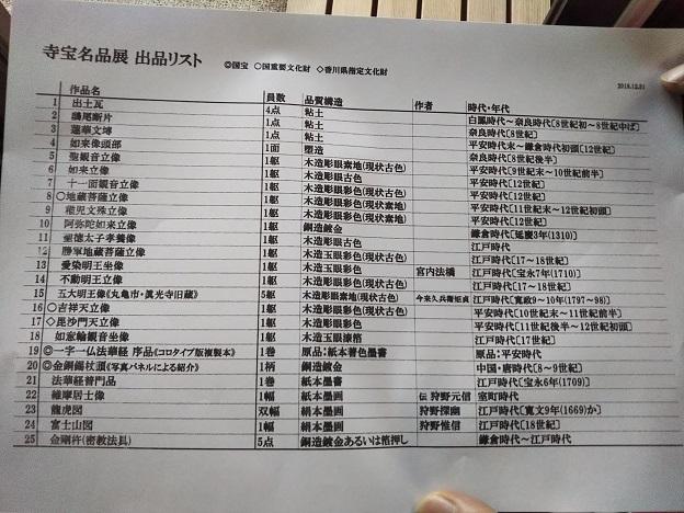 善通寺 宝物館リスト