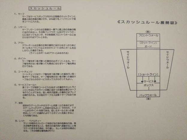 ヘルスピア倉敷 スカッシュ案内図