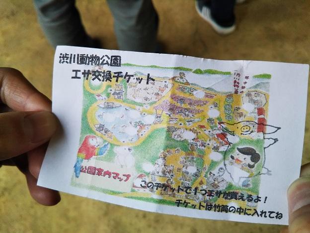 渋川動物公園 餌チケット