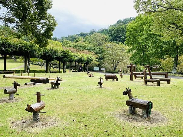 木馬の広場徳島県立神山森林公園イルローザの森