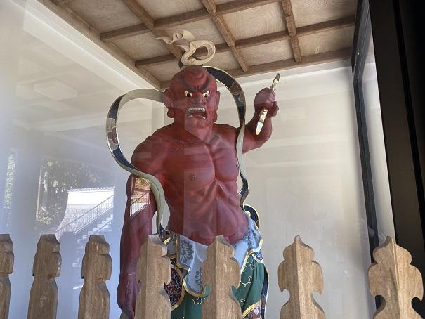 大窪寺の仁王門仁王像