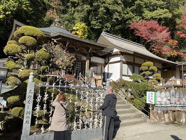 大窪寺の本堂付近