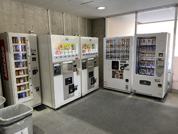 パンカップラーメンの自動販売機トレスタ白山アイスアリーナ