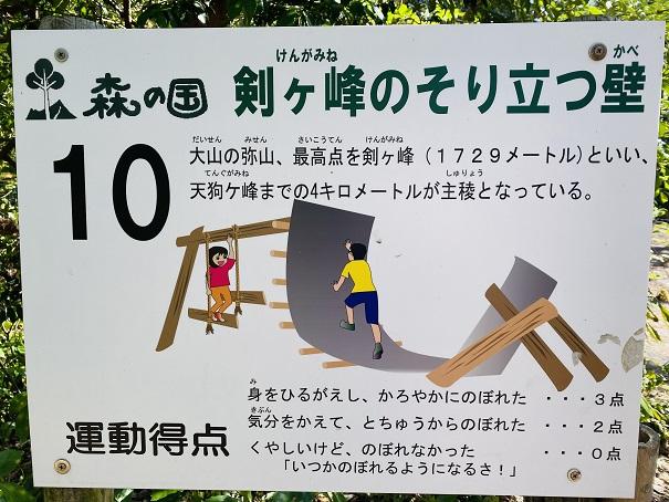 剣ヶ峰のそりたつ壁説明