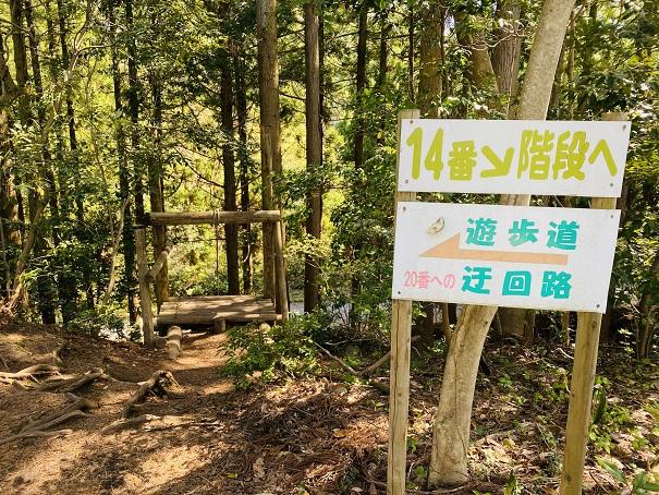 大山滝くだり遊歩道とう回路