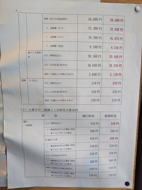 クワハウス今治 料金改正2