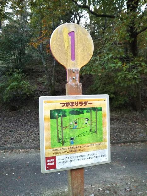 公渕森林公園 アスレチック1看板