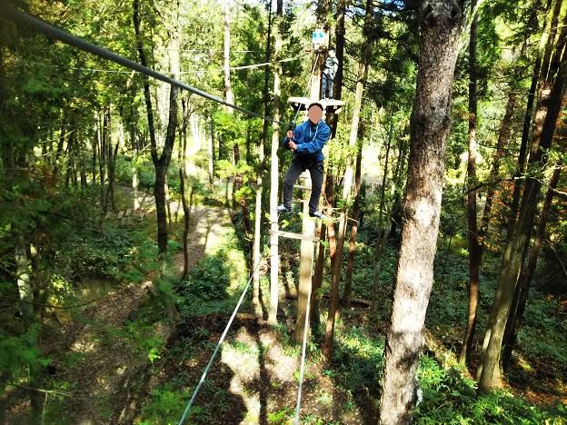 アドベンチャーコース5はしごや2本ロープ
