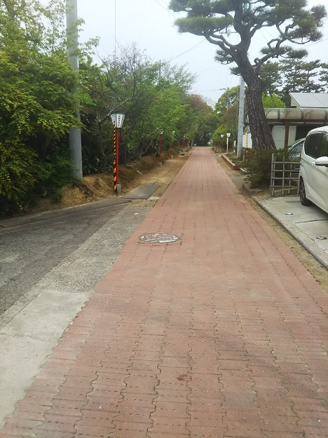 滝宮神社への参道