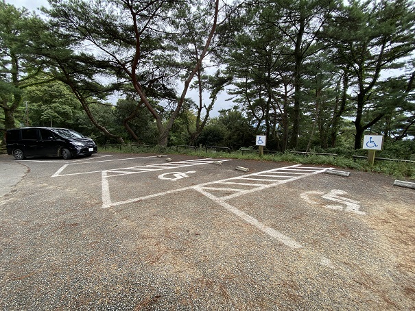 象ヶ鼻岩銭形展望台 第2駐車場