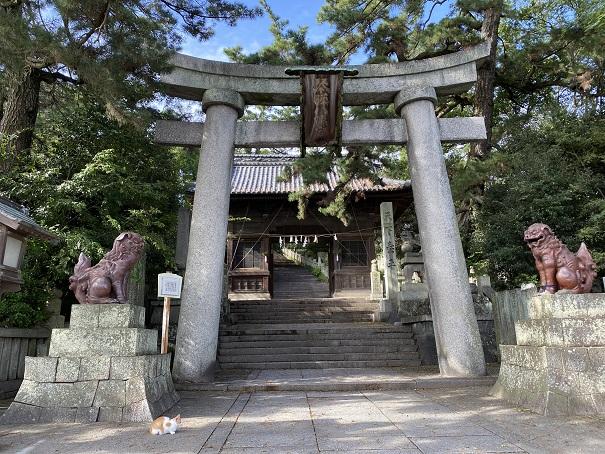琴弾八幡宮参道の階段