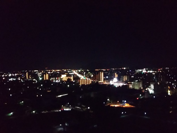 丸亀城から見る夜景