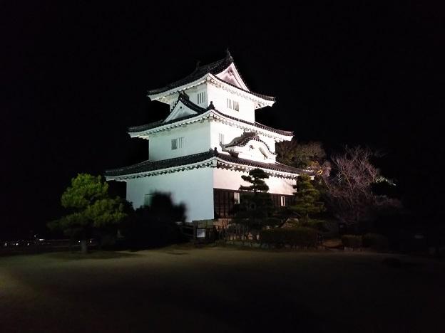 丸亀城天守閣のライトアップ