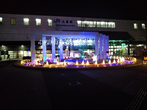 JR丸亀駅南口広場ウィンターイルミネーション