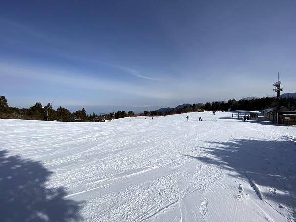 石鎚スキー場初級コース