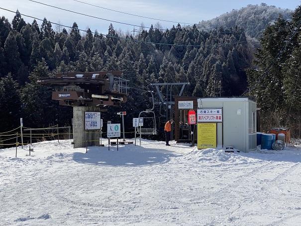 第6ペアリフト石鎚スキー場