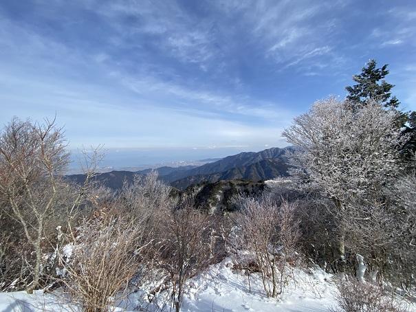 石鎚スキー場リフト山頂風景