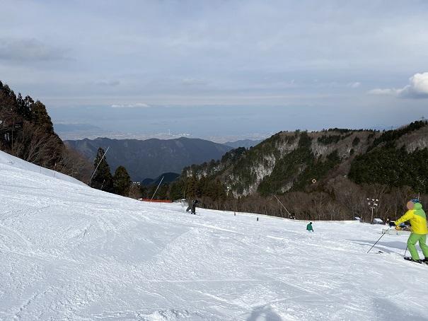 成就B上級者コース石鎚スキー場