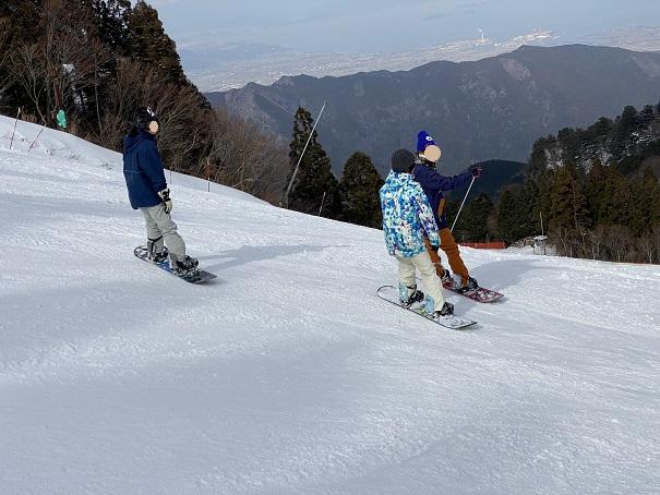 石鎚スキー場スノーボード