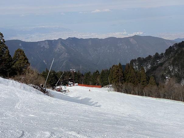 石鎚スキー場 中級者コース