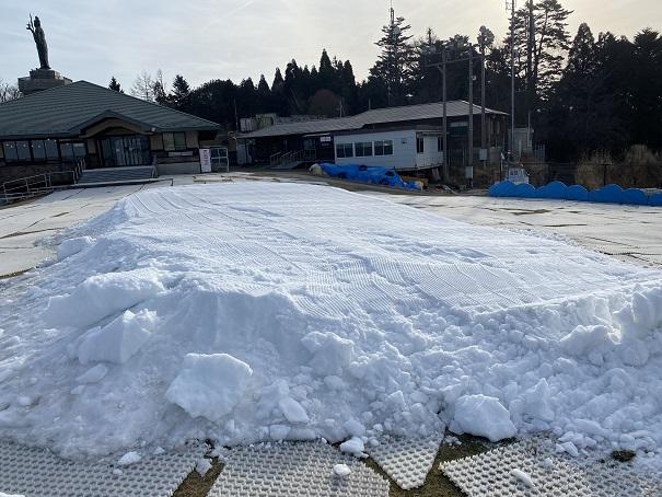 雲辺寺山頂公園 雪