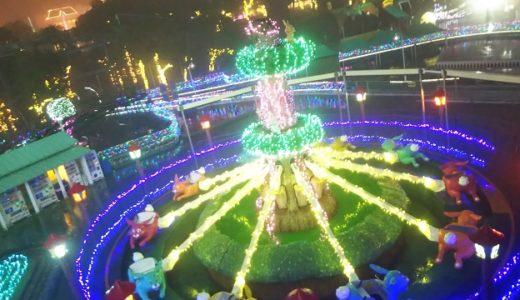 レオマ光ワールド 中四国最大のイルミネーション 3Dプロジェクションマッピング