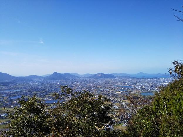 飯野山 展望台からの見晴らし