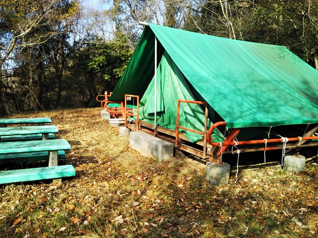 福山少年自然の家 第2キャンプ場テント