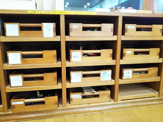 香川県立ミュージアム 昔の遊び棚